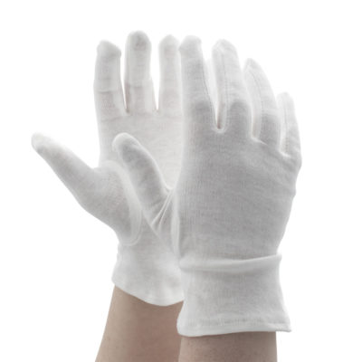 WHITE DESIGNED COTTON GLOVES