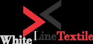 white line textile footer logo